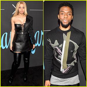 Chadwick Boseman & Cardi B Hit Up 'GQ' All Star Party