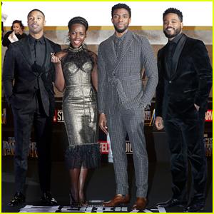 Chadwick Boseman, Lupita Nyong'o & Michael B. Jordan Bring 'Black Panther' To Seoul!