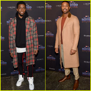 Chadwick Boseman & Michael B. Jordan Look Sharp at 'Black Panther' NYFW Event!
