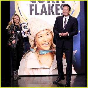Olympic Gold Medalist Chloe Kim Finds Out She Made the Cover of Kellogg's Corn Flakes - Watch Now