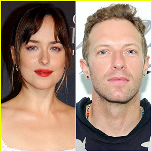 Dakota Johnson & Chris Martin Hold Hands at Ellen DeGeneres' 60th Birthday Party