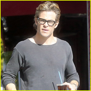 Chris Pine Rocks Glasses On His Coffee Run