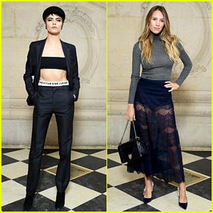Cara Delevingne & Dylan Penn Strike a Pose at Christian Dior Show During Paris Fashion Week!