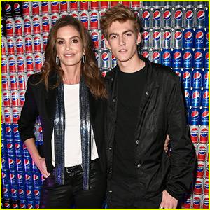 Cindy Crawford & Son Presley Gerber Celebrate Super Bowl Weekend with Pepsi!