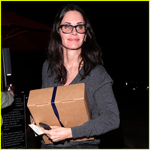 Courteney Cox Steps Out for Dinner in WeHo Amid Jennifer Aniston Breakup News