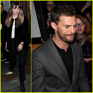 Dakota Johnson & Jamie Dornan Step Out for 'Fifty Shades' Cast Appearance in Paris!