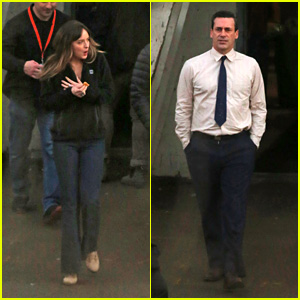 Dakota Johnson & Jon Hamm Finish Shooting Scenes for Their New Movie!