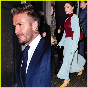 David Beckham Joins Wife Victoria for Night Out During NYFW!