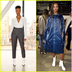 Sonequa Martin-Green & Kelela Look Chic at Dion Lee NYFW 2018 Fashion Show!
