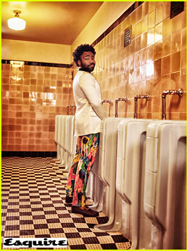 Donald Glover Poses at a Urinal for 'Esquire' Cover Shoot
