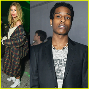 Doutzen Kroes & ASAP Rocky Step Out In Style for Raf Simons NYFW Show!