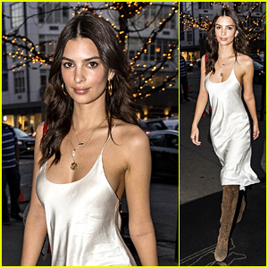 Emily Ratajkowski Looks Hot in a Silk Slip Dress in New York City!