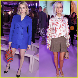 Emma Roberts & Andrea Riseborough Support Mulberry at London Fashion Week