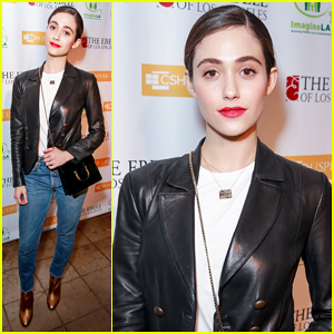 Emmy Rossum Helps Fight Homelessness at Stories From The Front Line Charity Event!