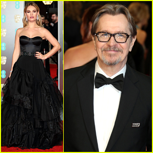 Darkest Hour's Gary Oldman & Lily James Attend BAFTAs 2018!