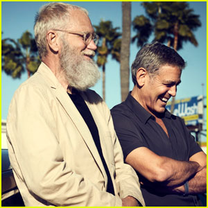 George Clooney & David Letterman Make An In-N-Out Stop - Watch Now!