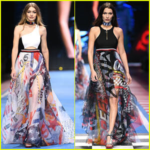 Gigi & Bella Hadid Make It a Family Affair at Tommy Hilfiger Presentation