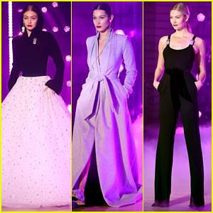 Gigi Hadid, Bella Hadid, & Karlie Kloss Hit the Runway for Brandon Maxwell