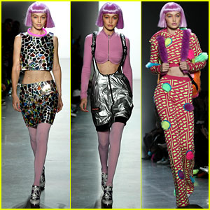Gigi Hadid Rocks a Pink Wig at Jeremy Scott's NYFW Show