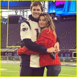 Gisele Bundchen & Kids Join Tom Brady at Super Bowl Practice