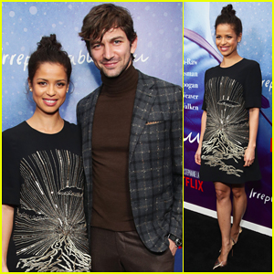 Gugu Mbatha-Raw & Michiel Huisman Come Together for 'Irreplaceable You' New York Screening!