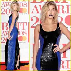 Hailey Baldwin Rocks Black Lipstick at Brit Awards 2018!