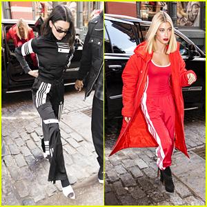 Kendall Jenner & Hailey Baldwin Look Stylish After the Adidas Fashion Show!