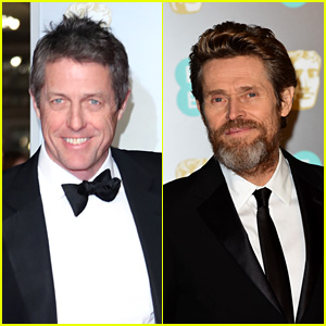 Supporting Actor Nominees Hugh Grant & Willem Dafoe Look Sharp on the Red Carpet at BAFTAs 2018