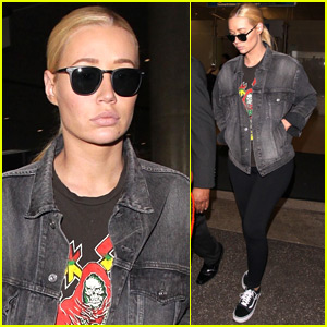 Iggy Azalea Returns Home from Mexican Getaway