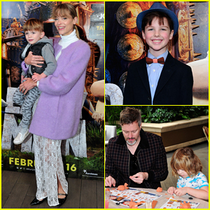 Jaime King Checks Out Advanced Screening 'Early Man' with Kids & Hubby Kyle Newman!