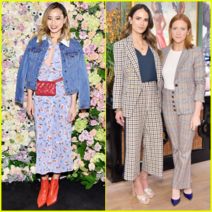 Jamie Chung Joins Jordana Brewster & Brittany Snow at Veronica Beard Store Opening