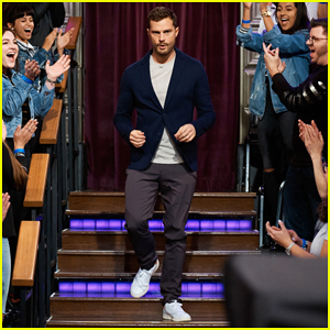Jamie Dornan Shows Off His 'Unfortunate, Bouncy' Runway Walk on 'Late Late Show' - Watch Here!