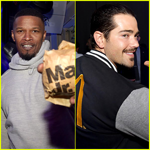 Jamie Foxx & Jesse Metcalfe Kick Off Super Bowl Weekend
