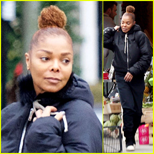 Janet Jackson Goes Grocery Shopping Solo in London!