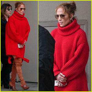 Jennifer Lopez Is Radiant in Red For Shopping Trip!