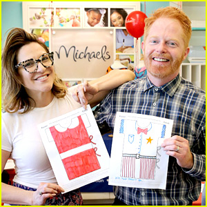 Jesse Tyler Ferguson & Shoshana Bean Host Design-a-Gown Event in L.A.