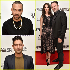 Jesse Williams & Adrian Grenier Buddy Up at 'Survivors Guide To Prison' Premiere!