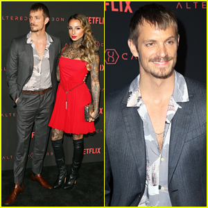 Joel Kinnaman & Wife Cleo Wattenstrom Couple Up at 'Altered Carbon' Premiere!