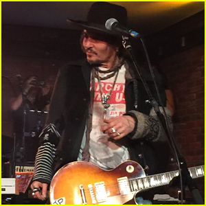 Johnny Depp, Joe Perry & Tommy Henriksen Jam Out at Lucky Strike Hollywood!
