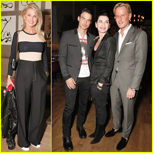 Julianna Margulies & Hubby Keith Lieberthal Couple Up at Welcoming Dinner for Alessia Antinori!
