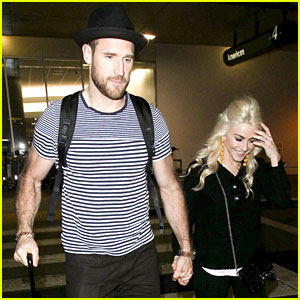 Julianne Hough & Husband Brooks Laich Return Home From Romantic European Vacation