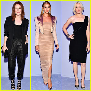 Julianne Moore, Rosie Huntington-Whiteley, & Elizabeth Banks Step Out for Tom Ford Fashion Show