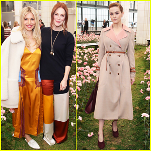 Julianne Moore, Sienna Miller & Zoey Deutch Sit Front Row at Tory Burch NYFW Runway Show!