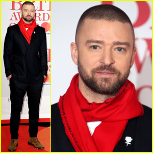 Justin Timberlake Wears White Rose Pin for Time's Up at Brit Awards 2018