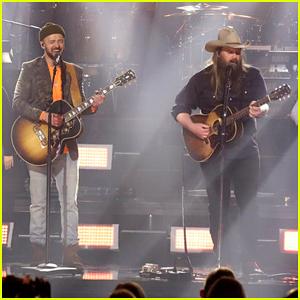 Justin Timberlake & Chris Stapleton Perform 'Say Something' on 'Tonight Show' Super Bowl Episode 2018!