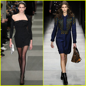 Kaia Gerber Struts for Alexander Wang & Bottega Veneta NYFW Shows!