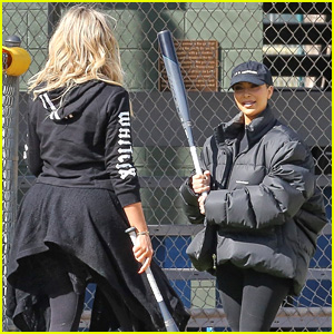 Kim, Khloe, & Kourtney Kardashian Play Baseball Together!