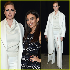Kate Upton Joins Victoria Justice Front Row at Jonathan Simkhai NYFW Show