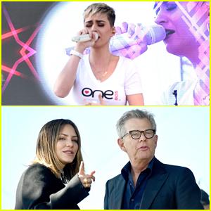 Katy Perry, Katharine McPhee & Boyfriend David Foster Hit Stage at Montecito Mudslide Benefit Concert!