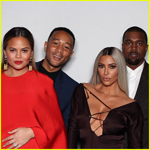 Kim Kardashian & Kanye West Join Chrissy Teigen & John Legend at Ellen DeGeneres' Birthday Party!